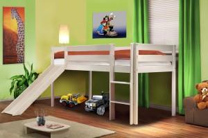 Kinderbett mit Rutsche Hochbett Kinderbett Spielbett